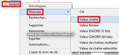 Créer une nouvelle valeur chaîne pour changer le moteur de recherche par défaut dans Word 2013