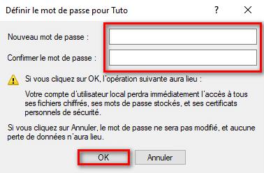 Désactiver mot de passe compte utilisateur Windows 10