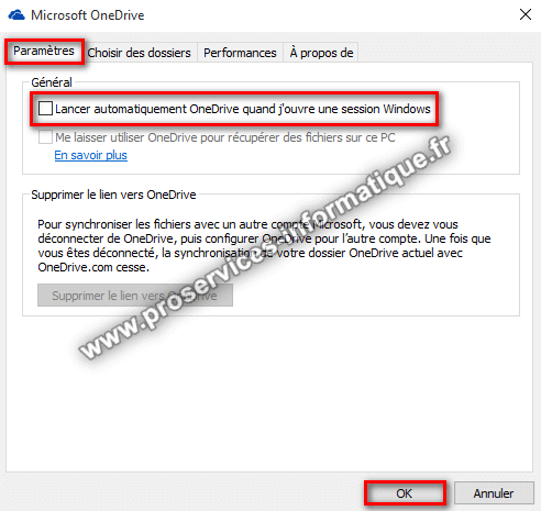 Désactiver OneDrive à l'ouverture de session Windows 10