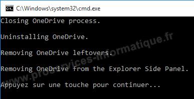 Désinstaller OneDrive et son intégration dans l'Explorateur de fichiers de Windows 10