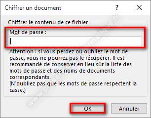 Chiffrer le contenu d'un document Microsoft Office avec un mot de passe