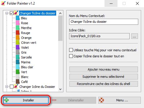 Personnaliser couleur dossier Windows