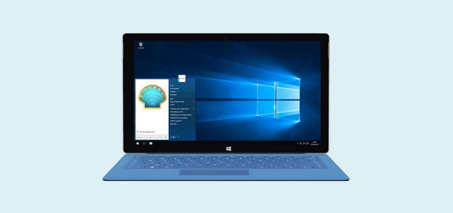 Retrouver le menu démarrer Windows 7 sur Windows 10