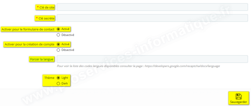 Configurer module reCAPTCHA PrestaShop