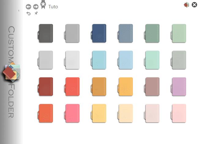 Changer la couleur d'un dossier sur Windows 10 avec CustomFolder