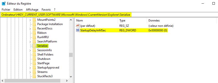 Désactiver le délai d'attente du système au démarrage de Windows 10