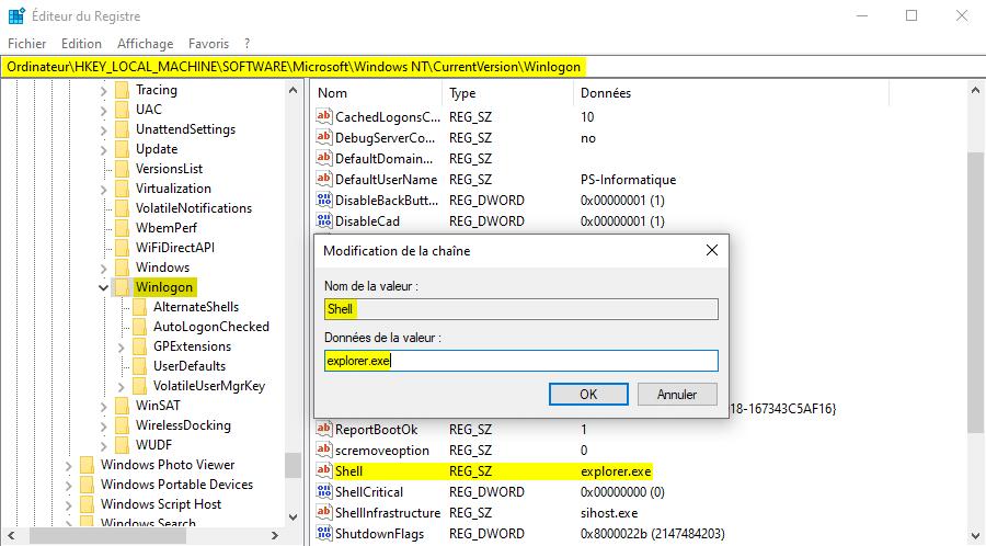 Réparer Explorer.exe qui ne se lance pas au démarrage de Windows 10