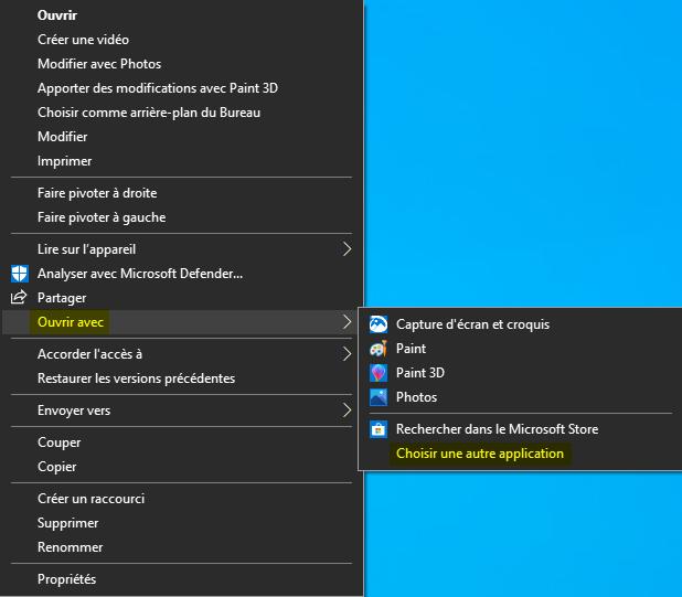 Utiliser l'ancienne visionneuse de Photos Windows par défaut