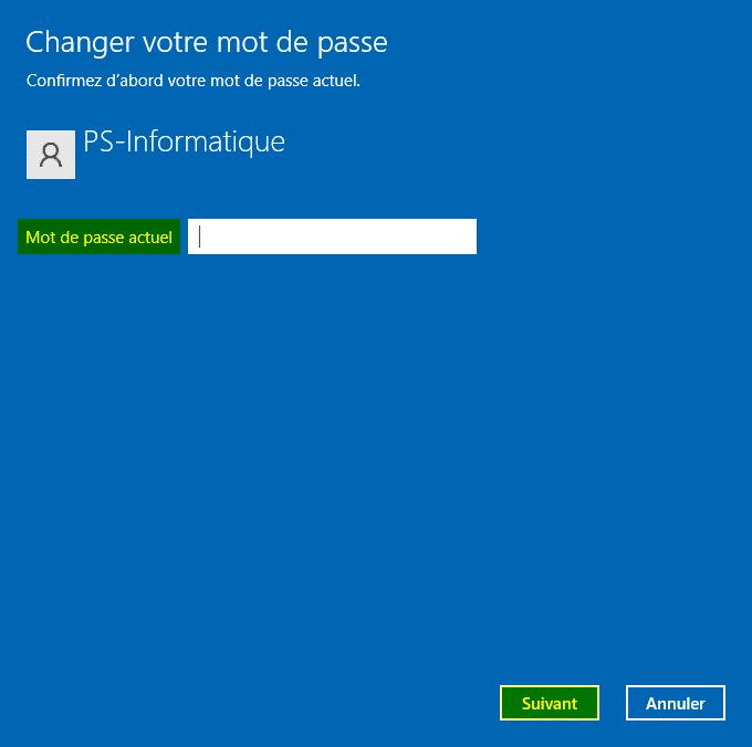 Confirmez votre mot de passe actuel