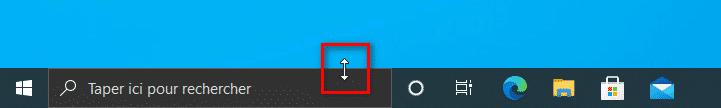 Modifier la hauteur de la barre des tâches de Windows 10