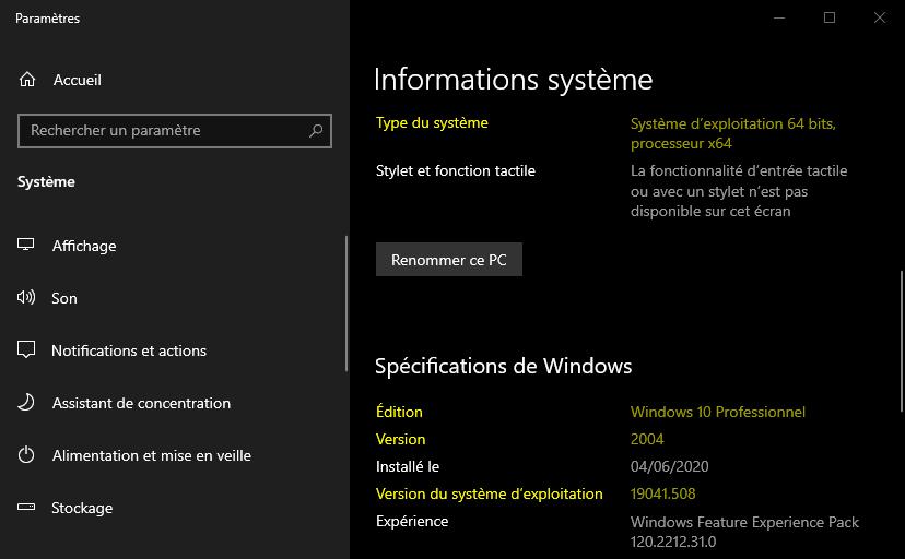 Comment connaître la version de Windows 10 installée sur son PC