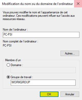 Nouveau nom PC Windows 10