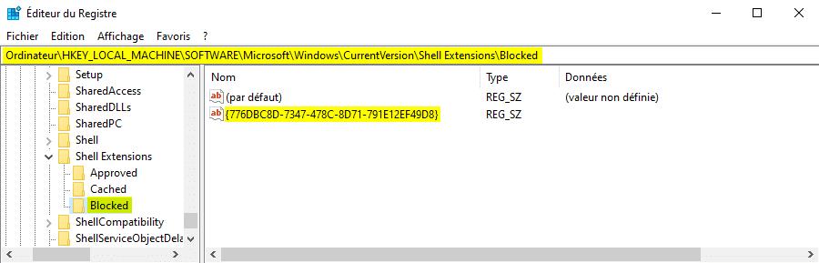 Supprimer Partager avec Skype sur Windows 10 pour l'application du Microsoft Store