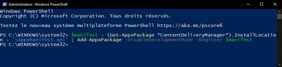 Réparer Windows à la une avec PowerShell
