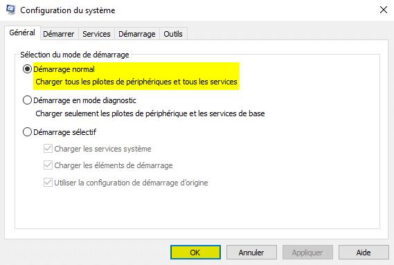 Résoudre les connexions WiFi ne s'affichent pas avec msconfig