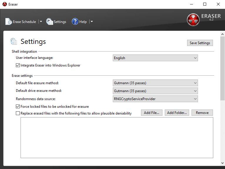 Supprimer définitivement un fichier ou dossier sous Windows avec Eraser