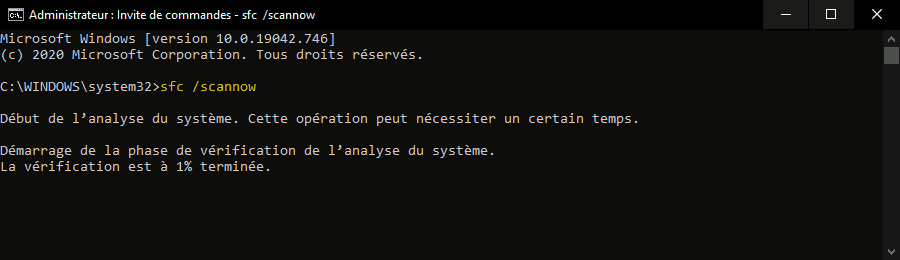 Réparer les fichiers système endommagés pour restaurer la barre des tâches disparue de Windows 10