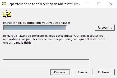Réparateur de boîte de réception de Microsoft Outlook