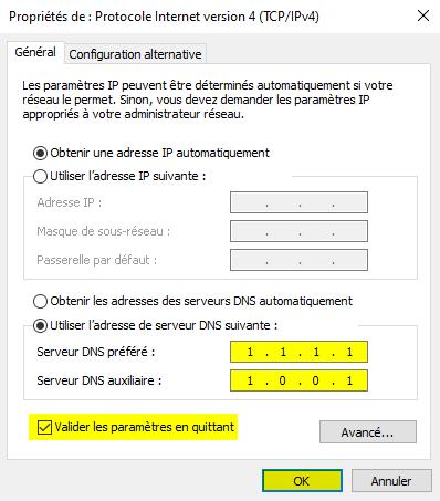 Modifier les DNS sous Windows 10 avec le panneau de configuration