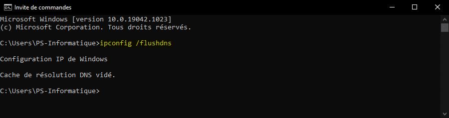 Vider le cache DNS sous Windows avec une invite de commandes