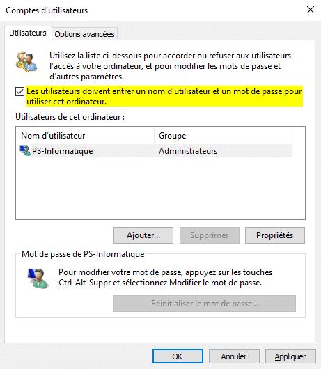 Résoudre un compte utilisateur en double au démarrage de Windows 10