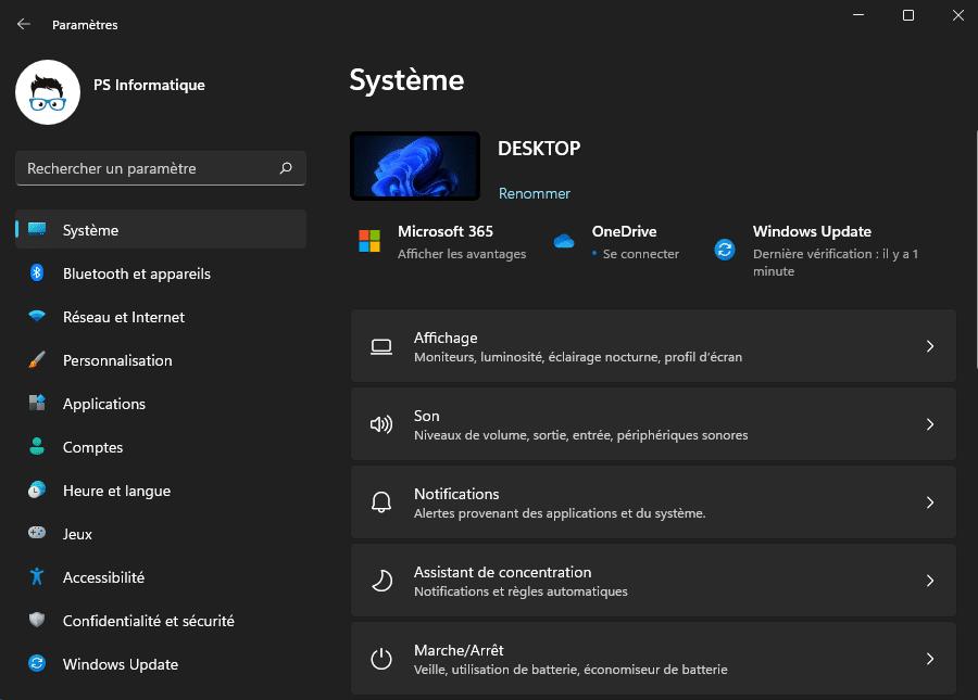 Les Paramètres de Windows 11